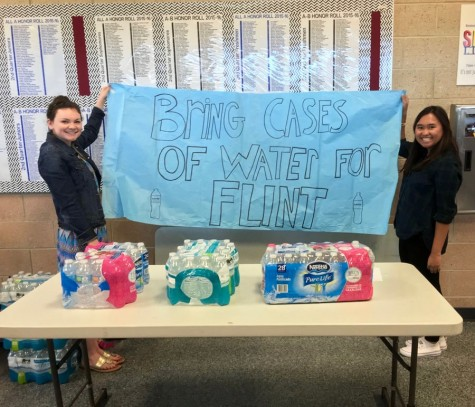 Student Ambassadors donate bottled water to Flint