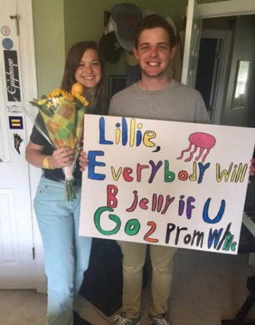 Promposals invite couples to peer through the looking glass
