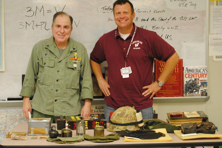 Mr. Sweredoski enjoys enviting Vietnam vets to the classroom to share their experiences.