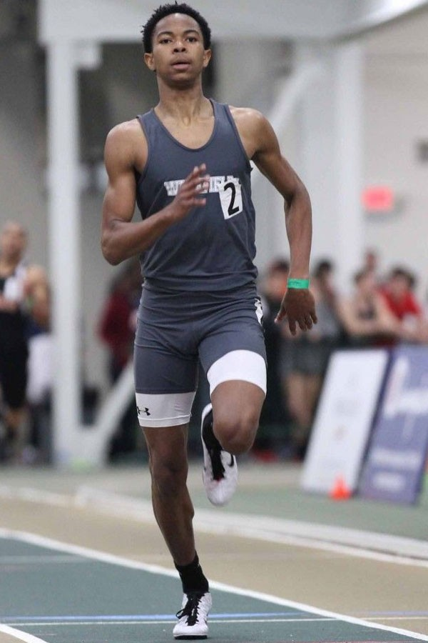 Dylan Peebles competes at a recent track event.