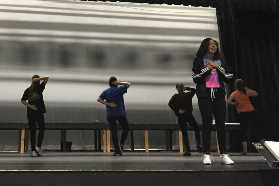 DeLacy Simpson and cast sing their Harts out during rehearsal for the production of Nine to Five.