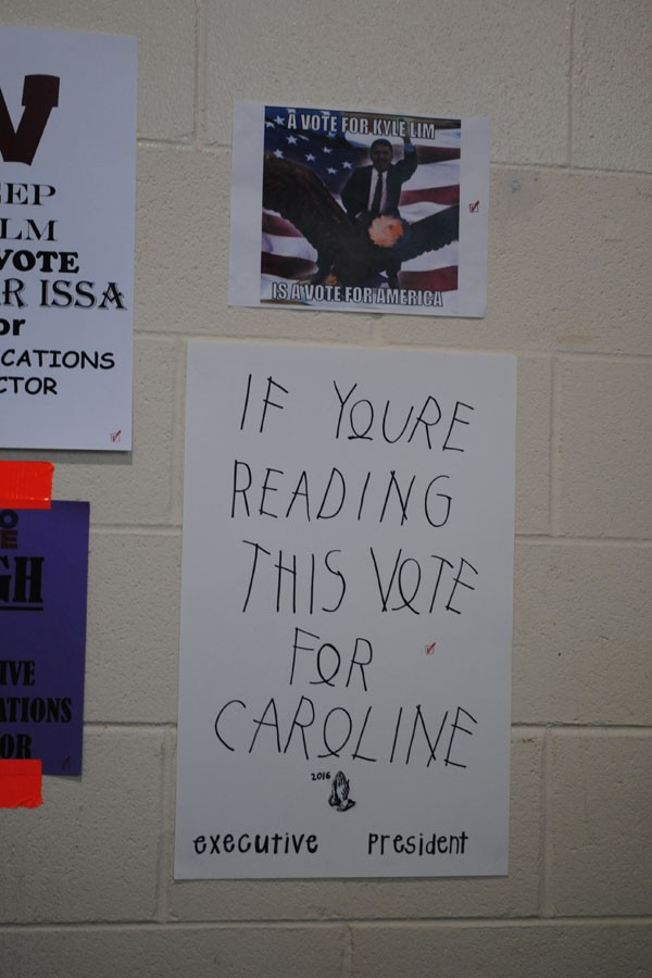 Potential leaders campaign throughout the halls of WHS.