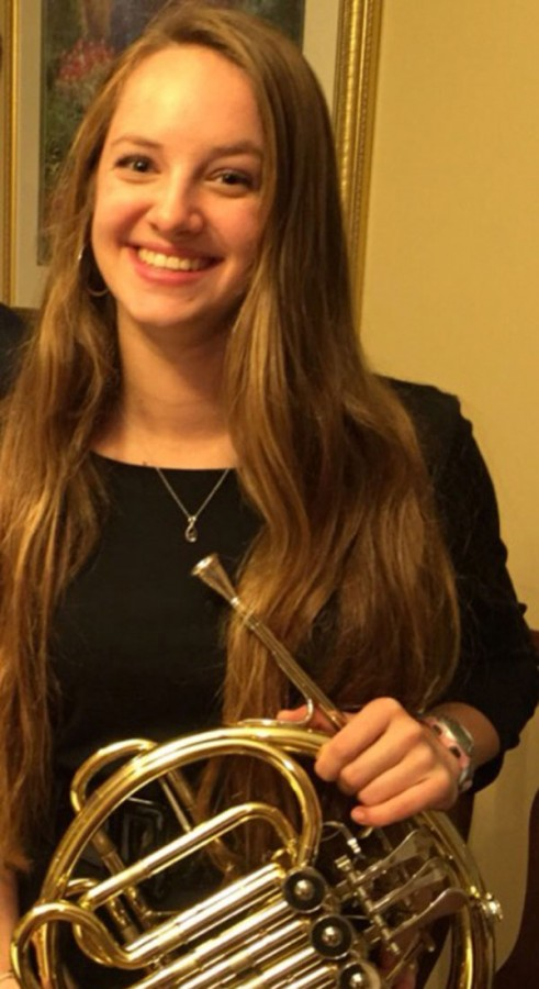 Mary Wardrop earned a spot in the All-State Band this year.
