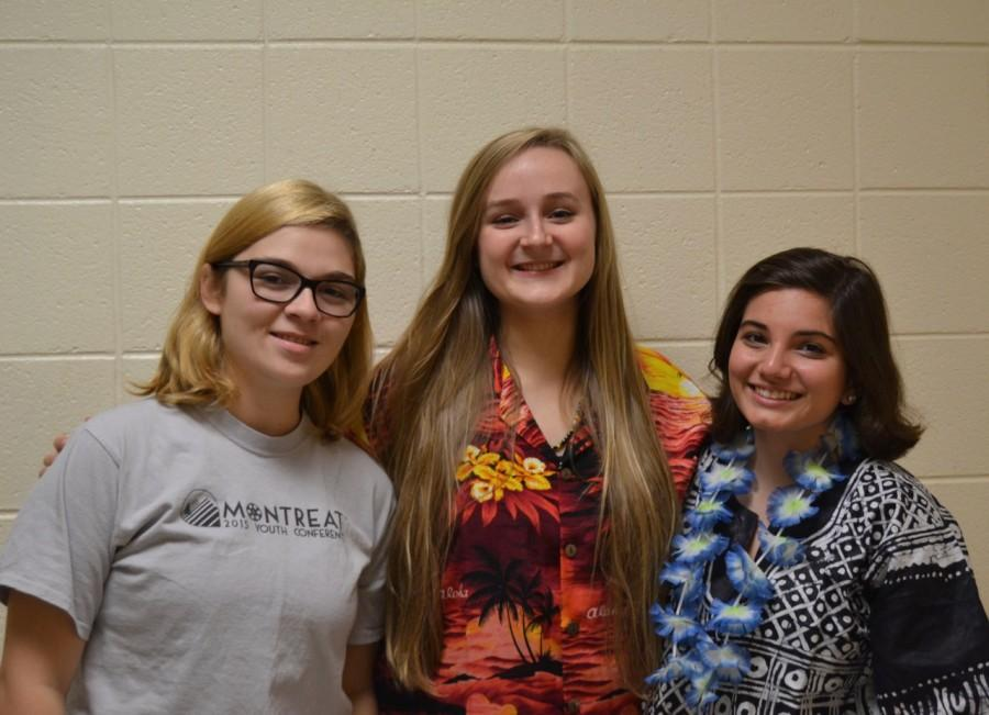 Kayla Pierce, Natalie Collier, and Katherine Sumner were accepted into the North Carolina Honors Chorus.