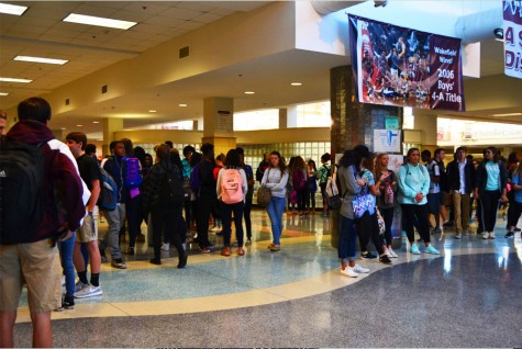 Students at Wakefield High School adhere to the new dress code.