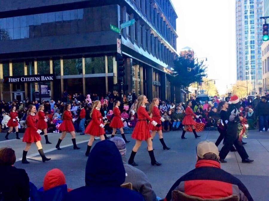 Wakefield dance team marches downtown during the parade.