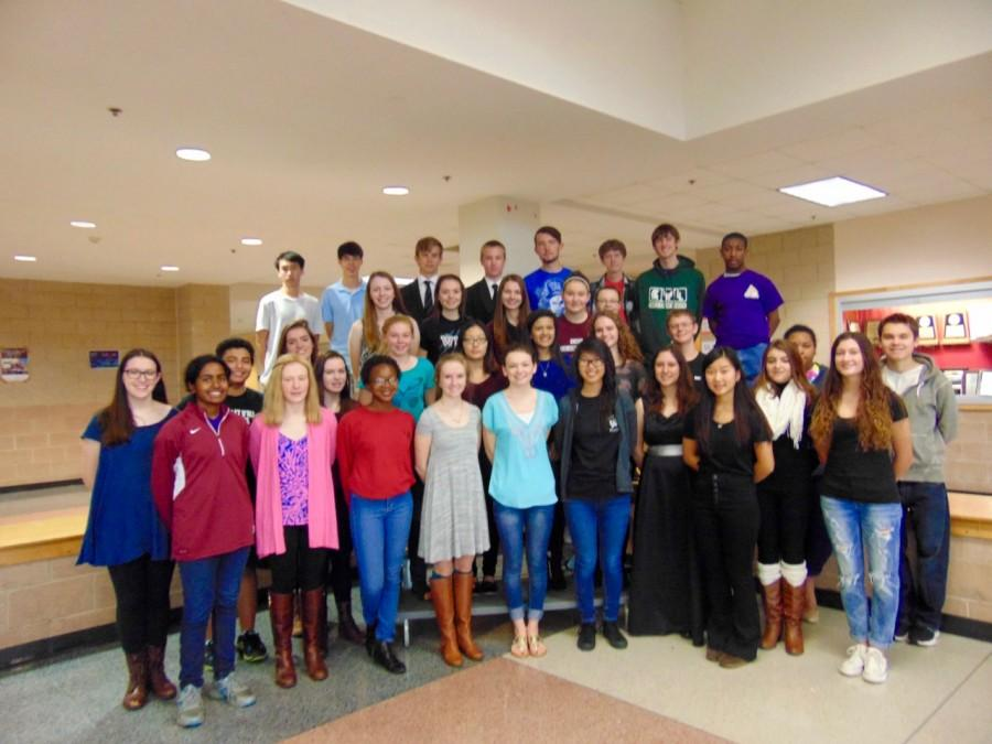 Wakefield High School's Science Olympiad team.