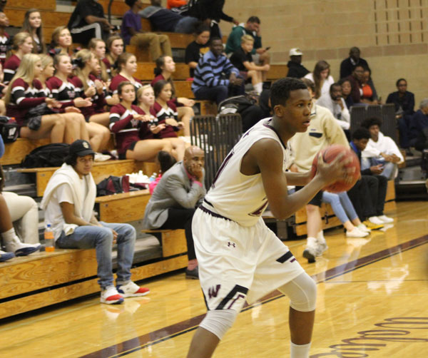 Sophmore shooting guard, Trae Smith gets in position to make a jump shot