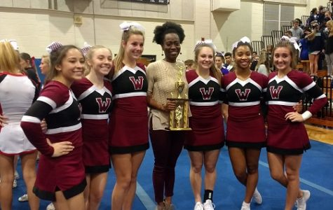 Wakefield cheerleaders place second in Wake County Cheerleading Competition