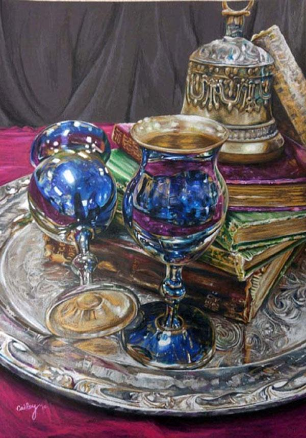 Still Life by Cailey Neuschaefer won first place in Womens District Level.