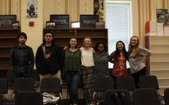 Soloists in Chorus who competed in the statewide Music Performance Adjudication competition, pose for a picture.