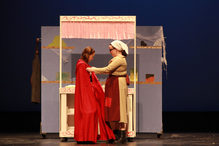 Jazmine Warner and Elese Corson perform in Litte Red Riding Hood.