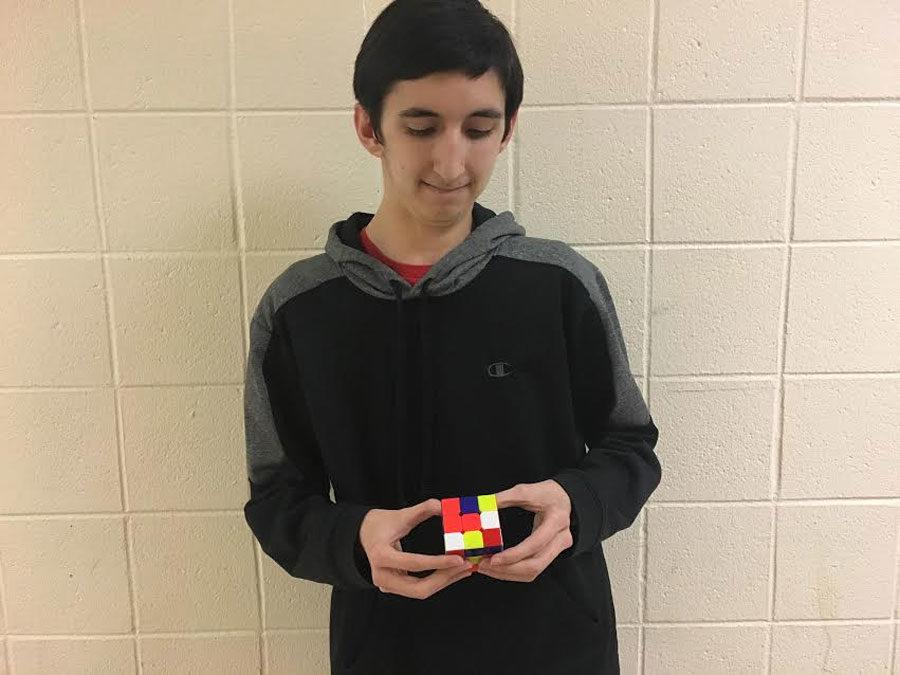 Wakefield Junior Hunter Burgon masters the Rubik's Cube.
