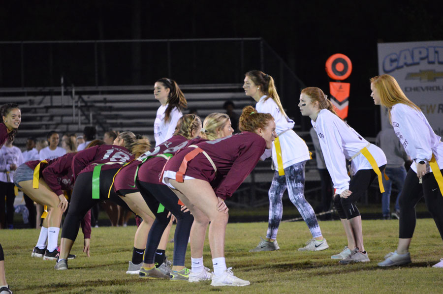 Juniors and Seniors stand head to head to fight for the powderpuff win.