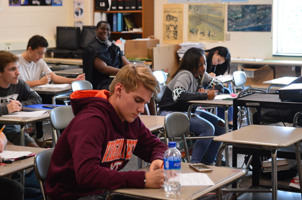 Students work hard in their classes in order to earn exemptions from finals.