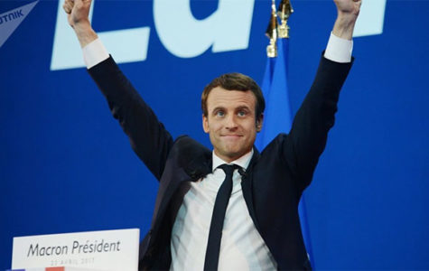 Macron winning the French presidential election