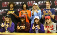 Wakefield student athletes sign for universities