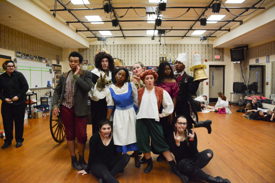 Seniors of Wakefield Theatre Company take their annual senior year picture.