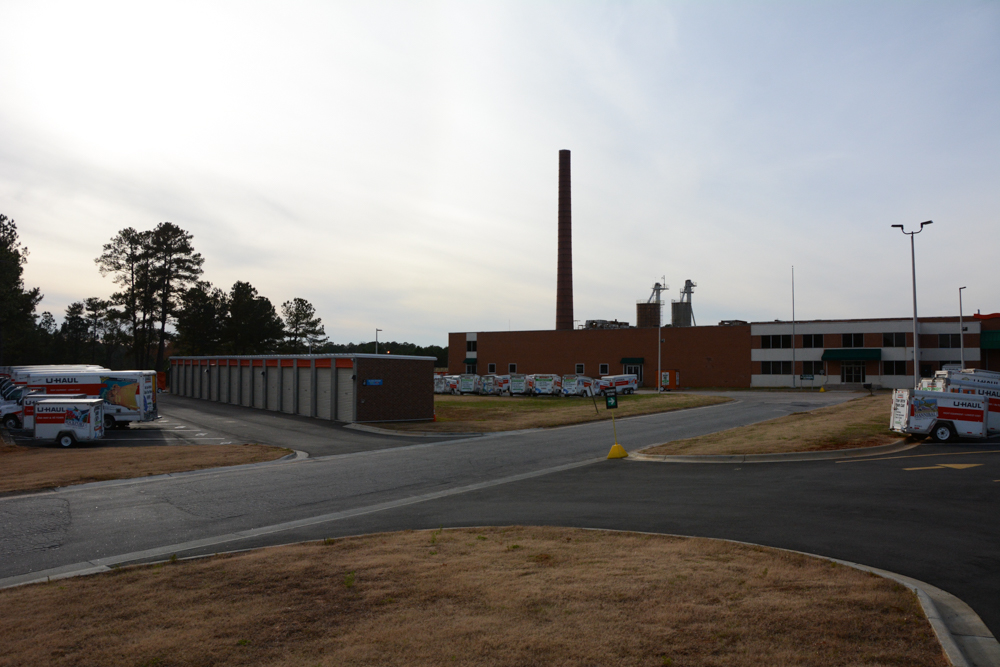 Hundreds of U-haul trucks which create pollutants around North Carolina.