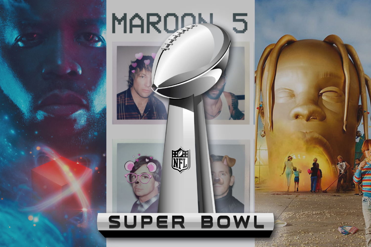 Maroon 5, Travis Scott and Big Boi rocked the Super Bowl this year.