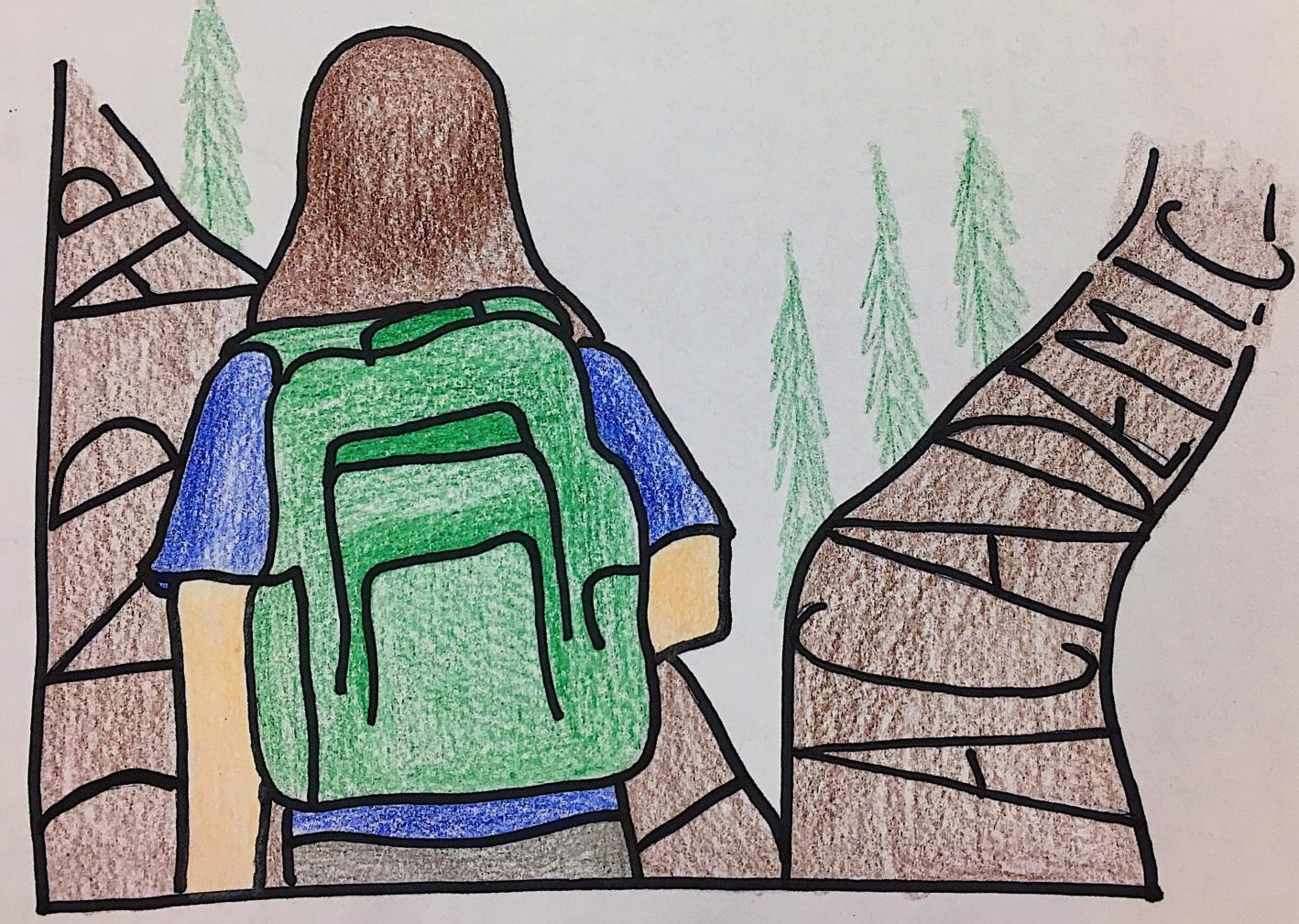 A student decides whether to take the academic or AP route — one daunting decision high school students face.
