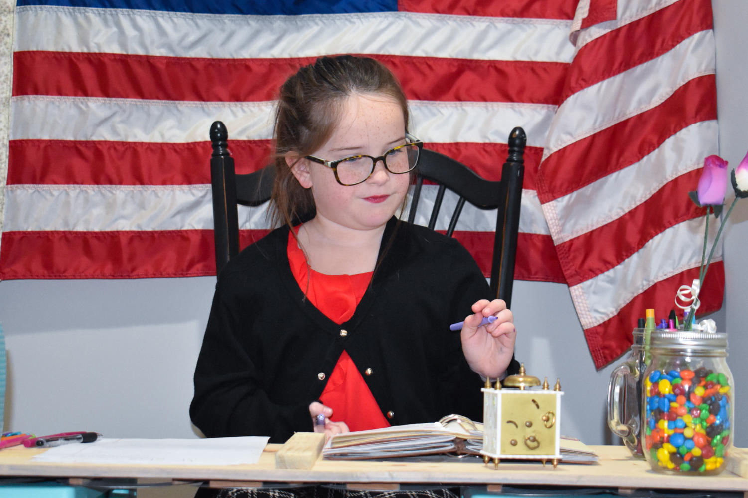 Seven year old Bella Hoover pretends to be President, her dream might not be far out of reach.
