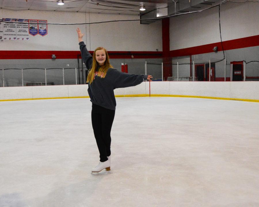 8th grade student Alaina Johncour strikes a grand pose