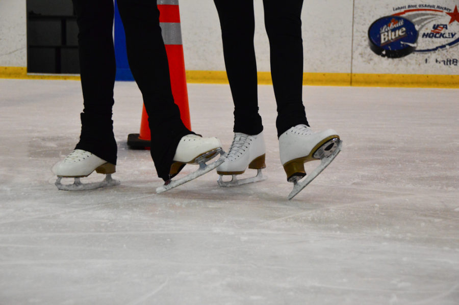 Skate Buddies: Kim and Johncour show off their skates
