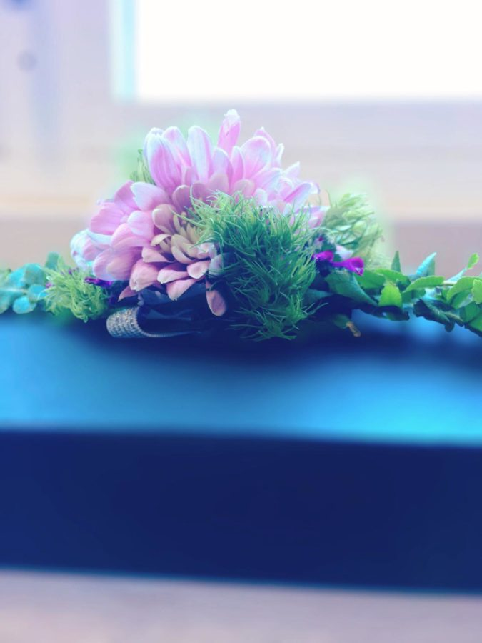 An+FFA+corsage+made+by+students+here+at+Wakefield+High+School.