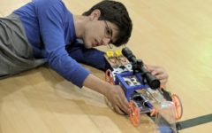 Mousetrap vehicle accelerates past the competition: Science Olympiad states tournament
