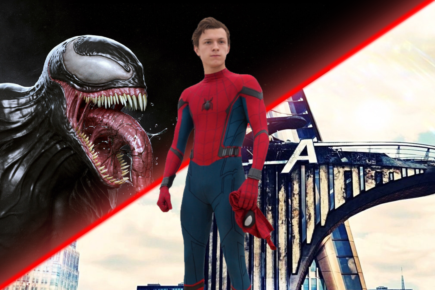 Spider-Man between the Sony Universe and the Marvel Universe.