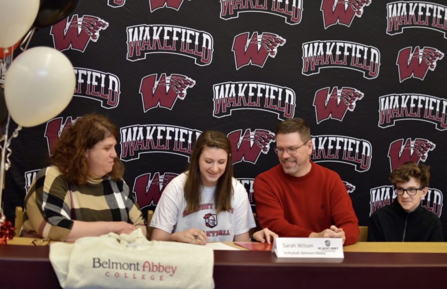 Sarah WIlson signs to play volleyball with Belmont Abbey College.