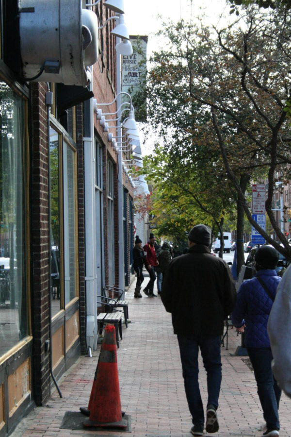 Blount street bustles with shoppers on a Sunday afternoon