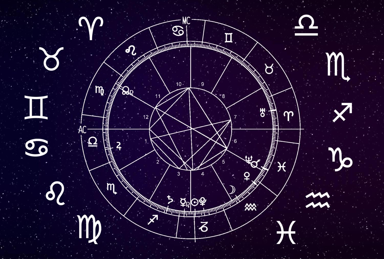 The 12 zodiacs of the horoscope wheel.