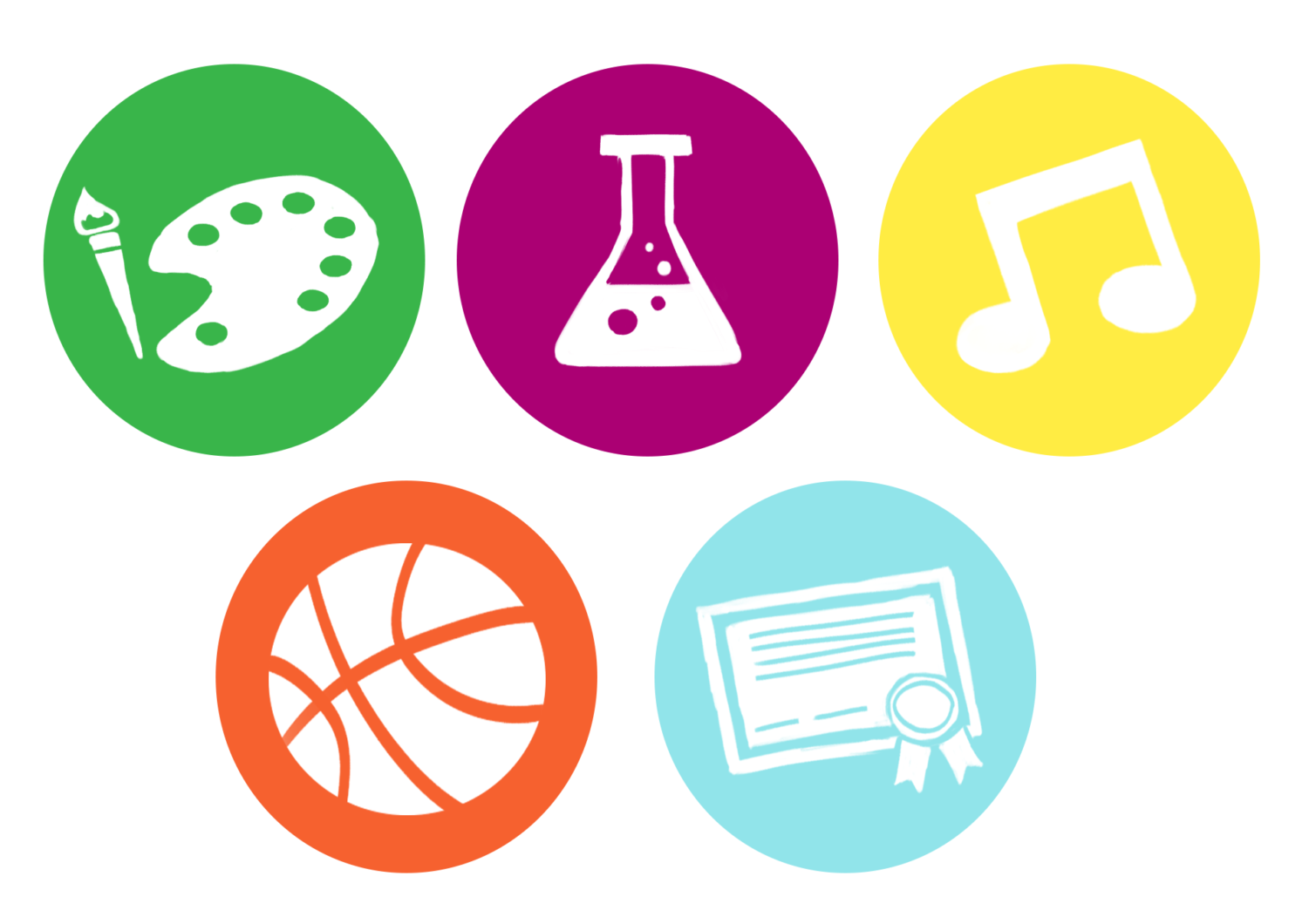 High schools offer a variety of extracurricular activities.