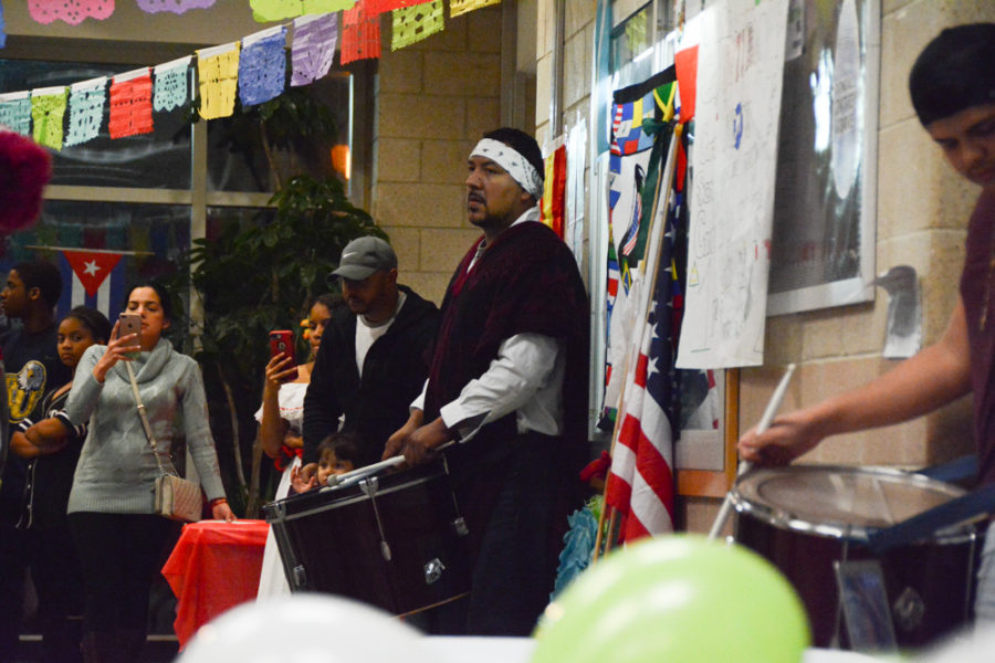 Drummers provide a rhythm and beat for dancers.