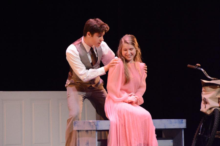 Sophomore Blake Rose and senior Sky Ashforth perform as Rolf and Liesl.