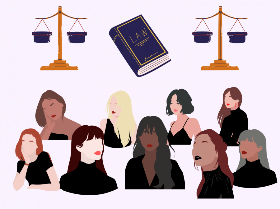 Nine future women make their way to the Supreme Court as people like Ruther Bader Ginsburg leverage the law to enforce gender equality.