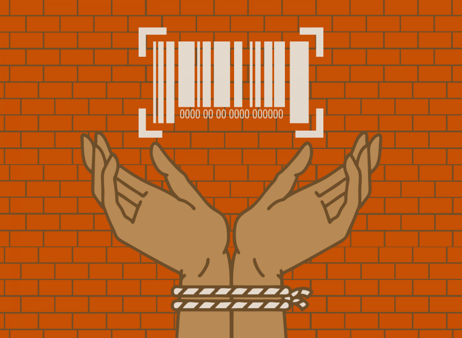 When sold into human trafficking many victims get marked with a barcode or number and get their hands tied up. Both of these have become symbols used to spread awareness for human trafficking.