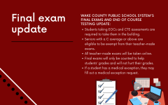 Wake County Public School Systems final exam update shares information about new testing accommodations with the county.