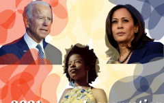 President Joe Biden and Vice President Kamala Harris received their official titles on Jan. 20, featuring poet Amanda Gorman and other speakers. Graphic by Sage Cooley.