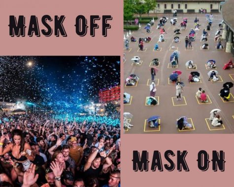 Mask on or off?